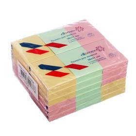Блок с липким краем 38 х 51 мм, Attomex Pastel, 100 листов, микс *3 пастельных цвета