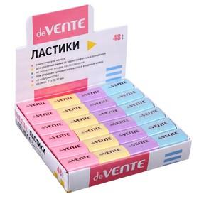 Ластик deVENTE Pastel, синтетика 22 х 18 х 10мм, прямоугольный, микс*4 цвета (штрих-код на каждом ластике) Ош