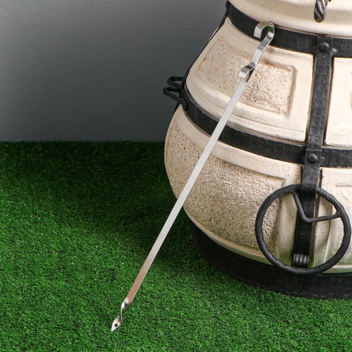Шампур для тандыра, 45 х 1 см, нержавеющая сталь 1,5 мм