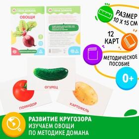 Обучающие карточки по методике Глена Домана «Овощи», 12 карт, А5