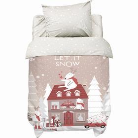 """Постельное белье """"Крошка Я"""" Let it snow, 112х147 см, 60х120+14 см, 40х60 см, 100% хлопок"""