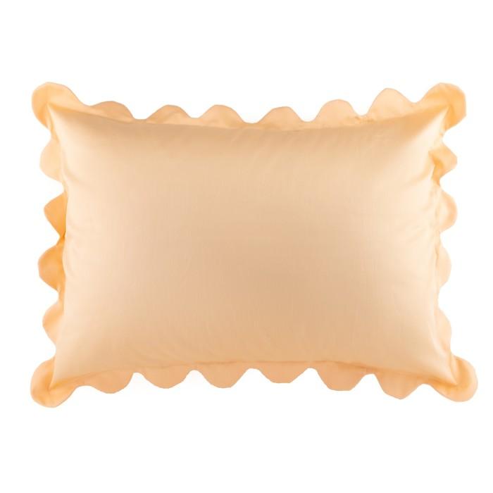 Наволочка с рюшами Этель цв.коралловый, 50*70 см, сатин, хлопок 100 % - фото 105556435