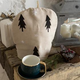 Грелка на чайник Доляна Christmas mood 28х28см, 100%хл, рогожка 164 г/м2