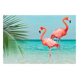 """Интерьерная наклейка """"Розовый фламинго"""" 60х90 см"""