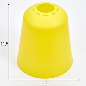 "Плафон универсальный ""Цилиндр""  Е14/Е27 лимонный 11х11х12см"