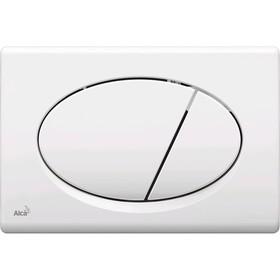 Кнопка управления Alcaplast M70, для скрытых систем инсталляции, белый Ош