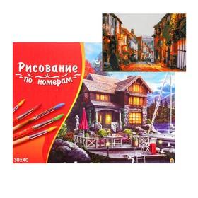 Картина по номерам на холсте 30 × 40 см, «Вечерняя улочка»