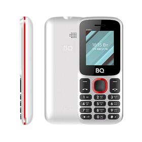Сотовый телефон BQ M-1848 Step+ 1,77', 32Мб, microSD, 2 sim, бело-голубой Ош
