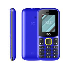 Сотовый телефон BQ M-1848 Step+ 1,77', 32Мб, microSD, 2 sim, сине-жёлтый Ош