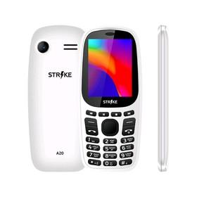 Сотовый телефон STRIKE A20 2,4', 32Мб, microSD, 2 sim, белый Ош