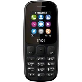Сотовый телефон INOI 100 1,8', microSD, 2 sim, чёрный Ош