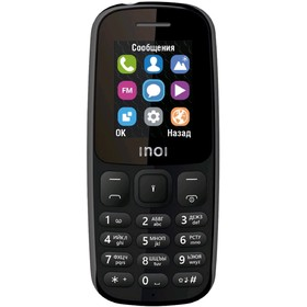 Сотовый телефон INOI 101 1,8', microSD, 2 sim, чёрный Ош