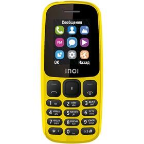 Сотовый телефон INOI 101 1,8', microSD, 2 sim, жёлтый Ош