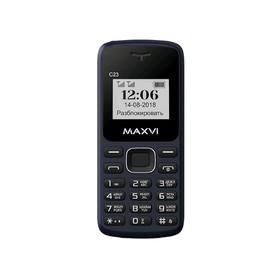 Сотовый телефон MAXVI C23 1,44', 32Мб, microSD, 2 sim, тёмно-синий Ош