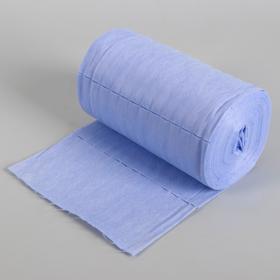 Набор одноразовых воротничков, без липкого слоя, 7 × 40 см, 100 шт в рулоне, цвет голубой