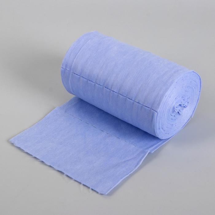 Набор одноразовых воротничков, без липкого слоя, 8 × 40 см, 100 шт в рулоне, цвет голубой