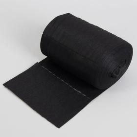 Набор одноразовых воротничков, без липкого слоя, 8 × 40 см, 100 шт в рулоне, цвет чёрный