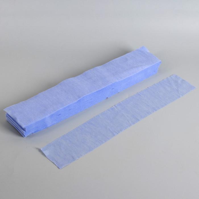 Набор одноразовых воротничков, без липкого слоя, 7 × 40 см, 100 шт, цвет голубой