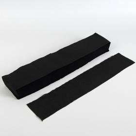 Набор одноразовых воротничков, без липкого слоя, 7 × 40 см, 100 шт, цвет чёрный