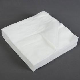 Салфетки косметические, плотность 40г/м2, 20 × 20 см, 100 шт
