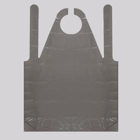 Фартук для мастера, 80 × 120 см, фасовка 50 шт, цвет чёрный Ош