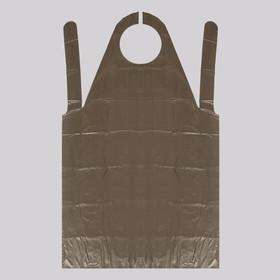 Фартук для мастера, 80 × 140 см, фасовка 10 шт, цвет чёрный