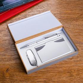 Набор подарочный 3в1 (ручка, визитница, нож 3в1)