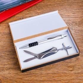 Набор подарочный 2в1 (ручка, нож 3в1) в Донецке