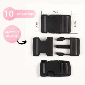 Fastex 40mm (neb 10pcs price for neb) black