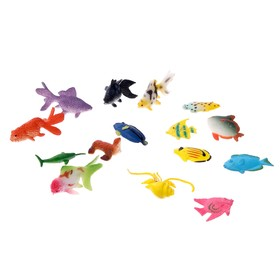 "A set of figures of ""Fish"", 15 pieces, MIX"