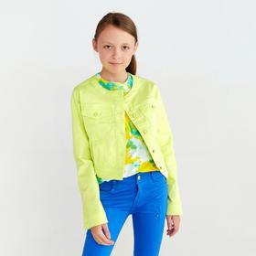 Куртка для девочки, цвет салатовый, рост 140 см