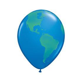 """Шар латексный 11"""" «Планета земля», 5-сторонний, набор 5 шт., цвет голубой"""