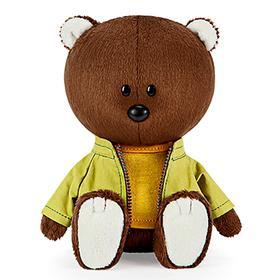 Мягкая игрушка «Медведь Федот в оранжевой майке и курточке», 15 см