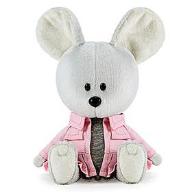 Мягкая игрушка «Мышка Пшоня в сером платье и курточке», 15 см