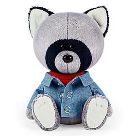 Мягкая игрушка «Енот Лёка в красной майке и джинсовке», 15 см