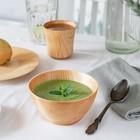 Набор посуды из натурального кедра Mаgistrо, 19×2 см, 13×7 см, 180 мл, цвет молочный - фото 744332