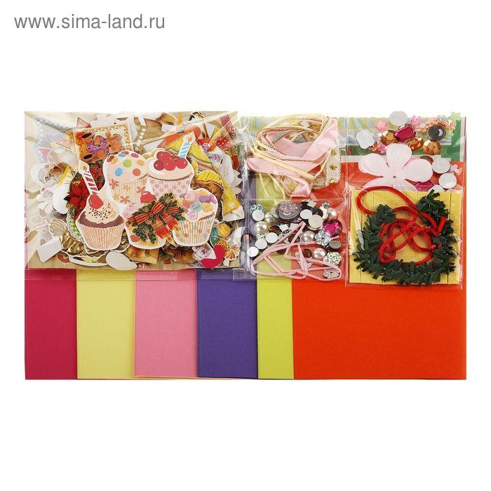 """Набор для творчества """"Листья"""": 18 открыток, 18 конвертов"""