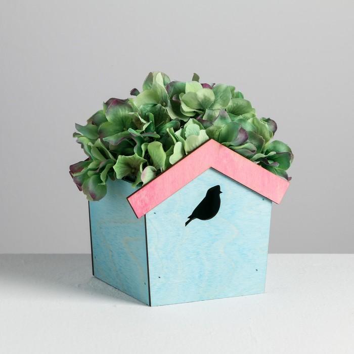 Кашпо-домик «Птица», 13 х 18 х 11 см - фото 407615