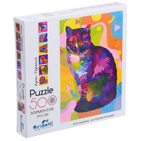 Пазл 500 элементов «Поп-арт. Кошка»