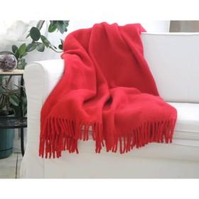 Плед «Красный», размер 170 × 210 см, 9В-38