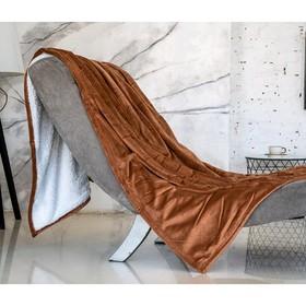 Плед-покрывало «Бежевый», размер 200 × 220 см, АВ-22