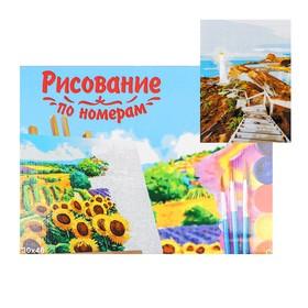 Роспись по номерам на холсте 30х40 ЛЕСТНИЦА К МАЯКУ  Х-9139
