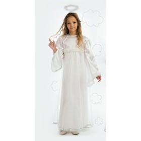 Карнавальный костюм «Ангел», платье, головной убор, крылья, р. 30, рост 122 см