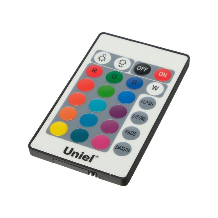 Пульт управления лампой RGB Uniel, c ИК сенсором, черный