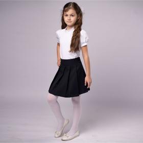 Школьная блузка для девочки, цвет белый, рост 158