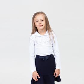 Школьная блузка для девочки, цвет белый, рост 152