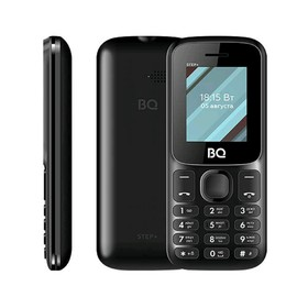 Сотовый телефон BQ M-1848 Step+ 1,77', 32Мб, microSD, 2 sim, чёрный Ош