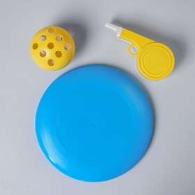 """Летающая игрушка №9 (Летающая тарелка """"Фрисби"""", Свисток, мяч) МИКС"""