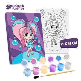 Картина по номерам «Сладкая девчонка»21×15 см