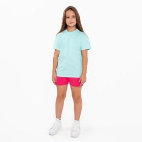 Шорты для девочки, цвет малиновый, рост 116-122 см